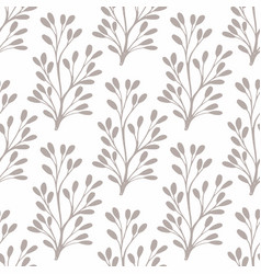 seamless pattern with small stylized plants for vector image vector image