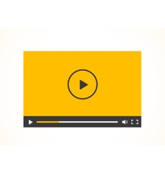 Simple abstract icon of video player vector image
