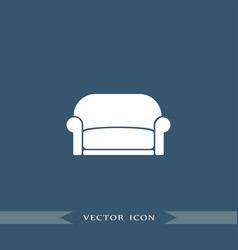 Sofa icon simple furniture sign vector