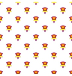 Triangular label pattern cartoon style vector