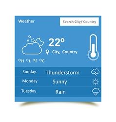 Weather widgets 2 vector