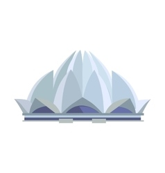 Lotus temple in flat design vector