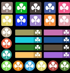 Clover icon sign set from twenty seven vector