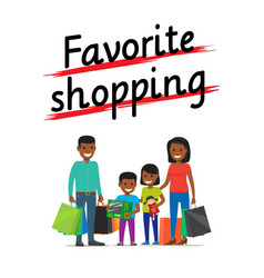 Favorite family shopping process icon on white vector