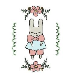 Cute little cartoon hare cute little cartoon hare vector