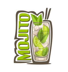 Cocktail mojito vector