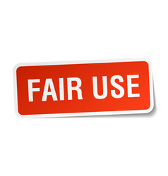 Fair use square sticker on white vector
