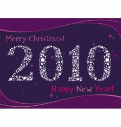 2010 greeting card vector image vector image
