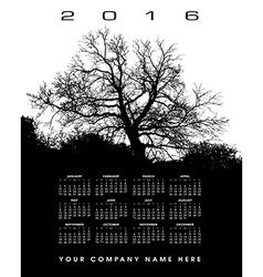 2016 Creative tree calendar vector image vector image