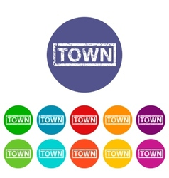 Town flat icon vector