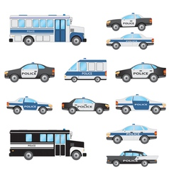 Set of police cars vector