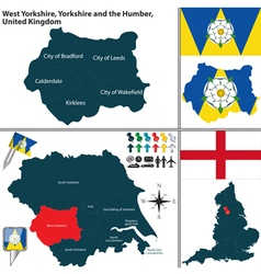 West yorkshire yorkshire and the humber vector