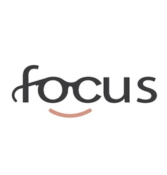 Focus design typography design vector