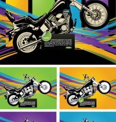 motorbike design vector image