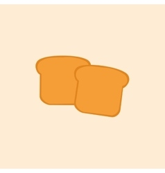Abstract delicuos bread vector