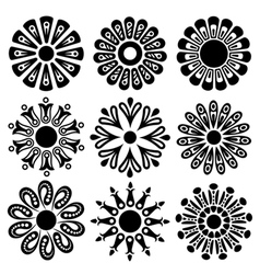 Abstract decorative flowers vector