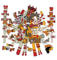 Ancient aztec god vector