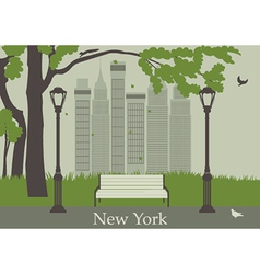 Central park in new york vector