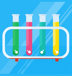 chemical laboratory test tube vector image vector image