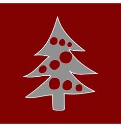 Christmas tree winter pattern vector