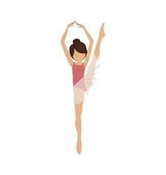 Colorful dancer fifth position with leg up vector