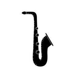 Contour saxophone musical instrument to play music vector