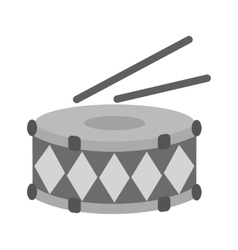 Drums and sicks vector