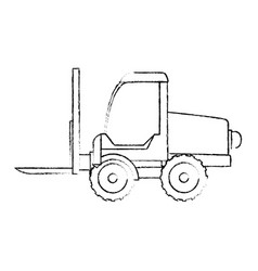forklift vehicle isolated icon vector image vector image