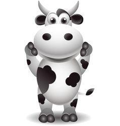 funny cartoon cow vector image vector image