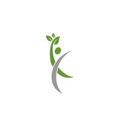 human eco nature logo vector image vector image