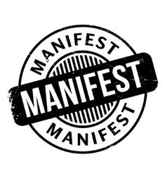 Manifest rubber stamp vector