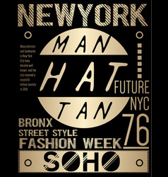 Newyork typography graphic design vector