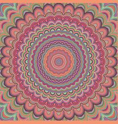 Psychedelic mandala ornament background - vector