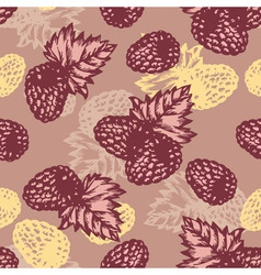 seamless berries vector image