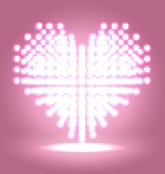 Shining heart shape vector image