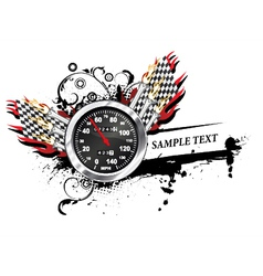 Speedometer with grunge vector