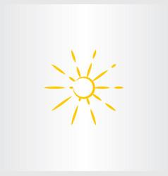 Sun icon symbol design vector