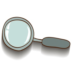 The image magnifier on a white background vector image
