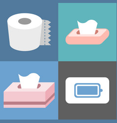 Tissue icons set vector