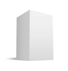 White realistic box with grey shades vector
