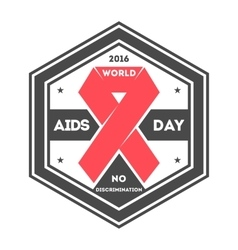World aids day label vector image