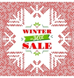 Winter sale background banner poster vector