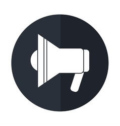 Megaphone speaker alert urgency shadow vector