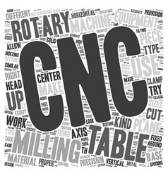 Cnc rotary tables text background wordcloud vector