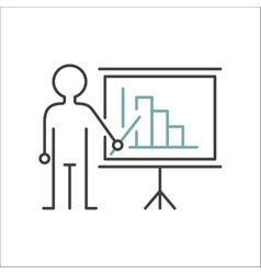 Presentation sign teacher icon standing with vector