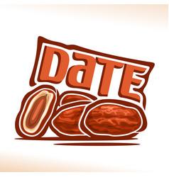 Date fruit vector