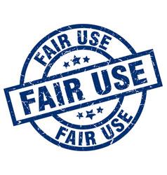 Fair use blue round grunge stamp vector