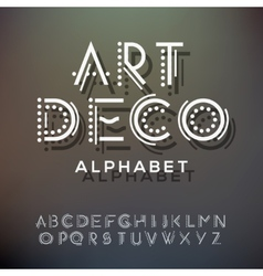 Alphabet letters collection art deco style vector