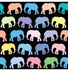 elephants pattern vector image