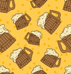 Beer mug pattern vector